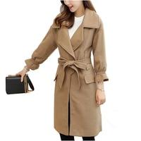NYMPH 2017 Luxury Brand Winter Women Thicken Warm Woolen Coat Office Lady Female Slim Belt Wool
