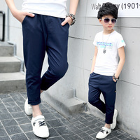 The New Leisure Panty Boy Spring/summer Trousers Children Nine Minutes Of Pants Wet Cotton Baby Clothes