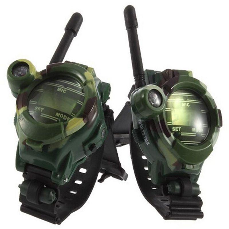 2pcs/set Toy Walkie Talkies Watches Walkie Talkie 7 in 1 Children Watch Radio Outdoor Interphone Toy For Chirlden