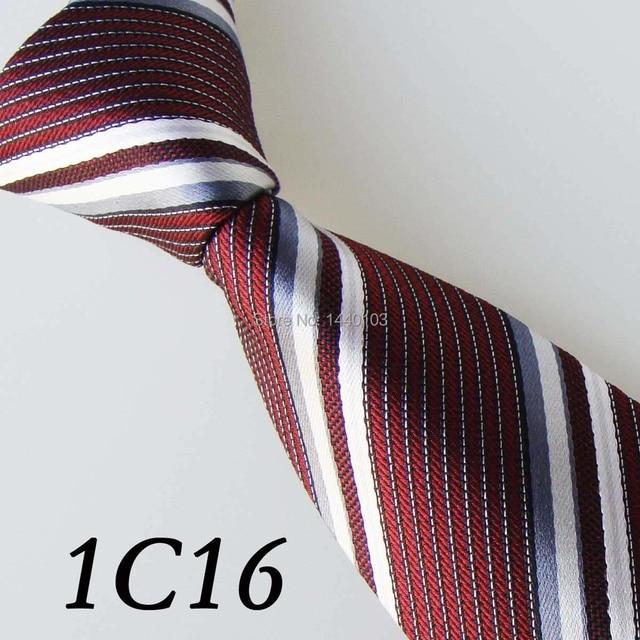 dd8a40acc2c7 2017 Latest Style Ties Burgundy White Silver Gray Sloping Grain  Design Boda Vestidos Casual Dress Groom Bestman Necktie For Men