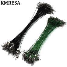 KMRESA 1Pieces 15cm 20cm 25cm 30cm Anti-bite Fly Leash Fishing Feeder Rope leading line Swivel Stainless Steel Rolling Swivels(China)
