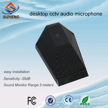 SIZHENG cctv microphone audio hd high sensitive mini counter desktop sound monitor pickup for security system