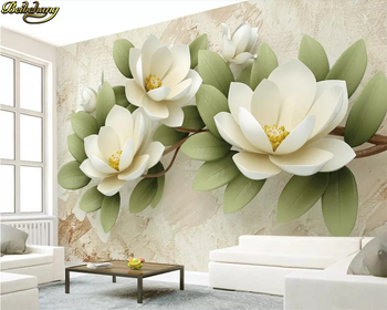 beibehang Custom wallpaper mural 3d embossed colorful carved flowers simple TV background wall papers home decor papel de parede