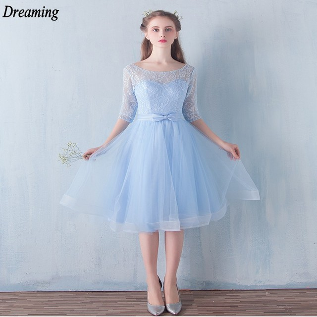 Vintage Elegant Short Bridesmaid Dresses Cheap Sheer Scoop Neck ...