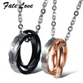 Couple Pendant Stainless Steel Hot Sale Couple Necklaces For Wedding Romantic Valentine's Day Gift 860