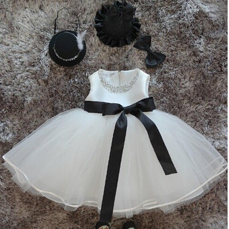 Dollbling bébé fille Pageant robes de mariée infantile princesse petites filles 1 an robe de fête d'anniversaire nouveau-né robes de baptême