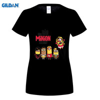 GILDAN Fashion The Theory 2 Minion Despicable Me Print T shirt Ladies Casual Short Sleeve Round Neck Tee Tops Clothes