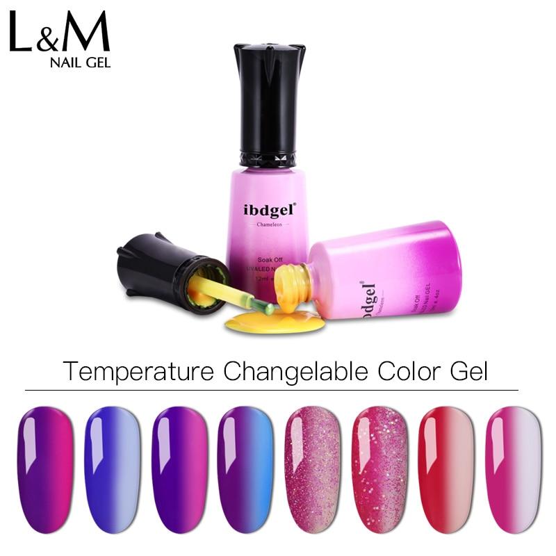 12 unids envío gratis UV Cambio de temperatura UV Gel Polish 12ml - Arte de uñas - foto 5