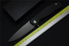 Green thorn 95 ball bearings folding knife D2 blade carbon fiber titanium handle camping hunting outdoor tools
