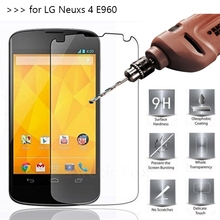 2.5D 0.26mm 9H Premium Tempered Glass Screen Protector For LG Google Nexus 4 E960 Toughened protective film For LG Nexus 4