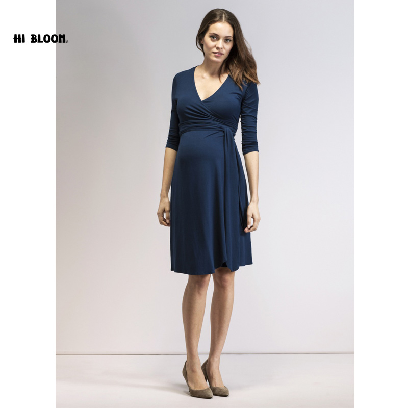 Maternity Clothes Elastic Maternity Dress Nice Evening Party Dress For Pregnant Women Elegant Spring Lady Vestidos happy easter stripped pregnant women party sashes dress elegant office lady vestidos maternity clothes plus size maternity dress