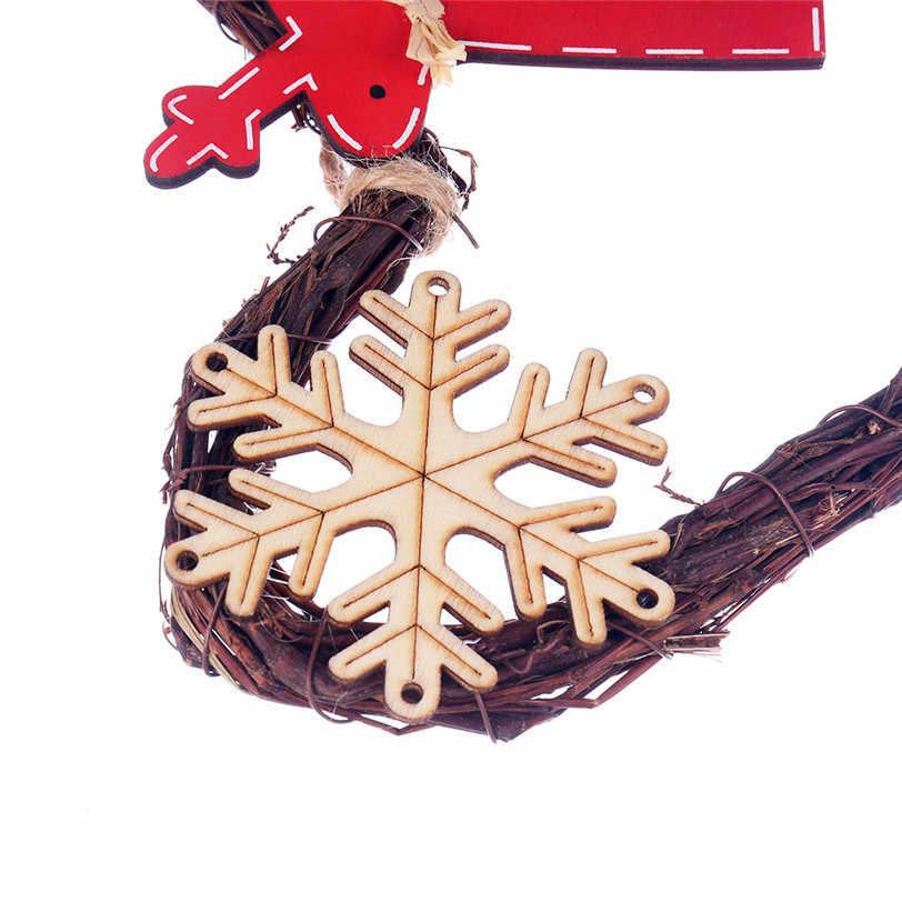 Веселые елочные украшения висит DIY ВЕНОК из ротанга огни строки лампы придверный, с рождественскими мотивами Настенный декор с 20 светодиодный шарики 919 # и