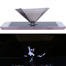 3D Holographic Projector Pyramid Display With Sucker For 3 5 6Inch Smartphone M35