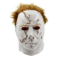New 2 Styles Don Post Michael Myers Halloween Mask Cosplay White Masks For Adult Deluxe Overhead