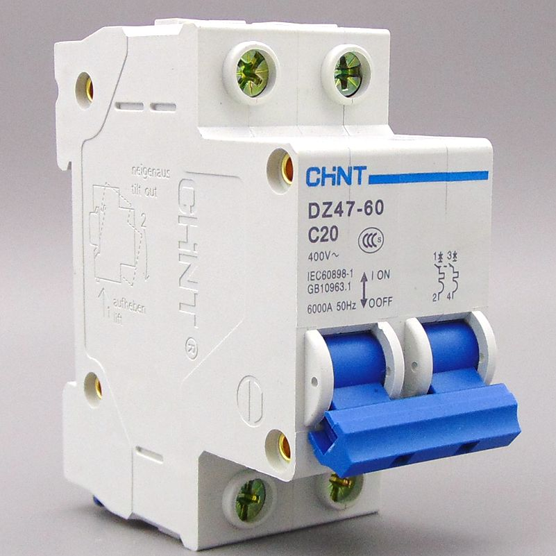 CHNT Circuit breaker Air switch MCB DZ47 2P 1A 2A 3A 4A 6A 10A 16A 20A 25A 32A 40A 50A 60A chnt chint leakage protector nbe7le 3p n 16a 20a 25a 32a 40a 63a small circuit breaker air switch