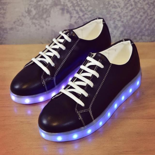 34-43 Tamanho/Cesta de Carregamento USB Led Crianças Sapatos Com Luz Up Casual Crianças Meninos & Meninas Luminosas tênis Sapato Brilhando enfant