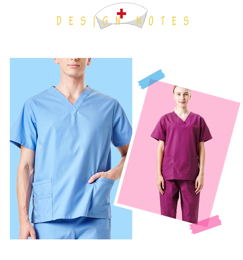 91d6b09a2a8 Detail Feedback Questions about Unisex Medical Clothing Scrub ...
