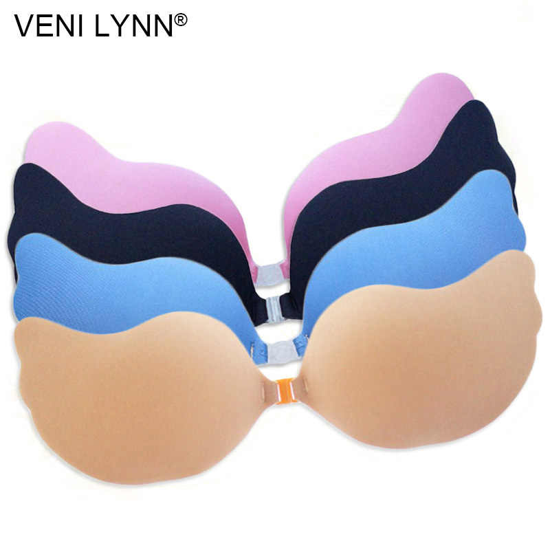 f59fe3a5318a3 VENI LYNN Butterfly Shape Breathable Self Adhesive Bra Biological Glue Stick  On Rope Nipple Cover Pink