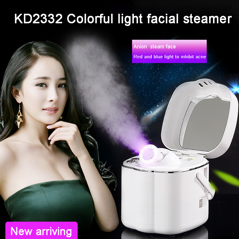Portable Home use beauty salon infrared led therapy Deep Cleaning facial steamer vaporizer sauna spa hot