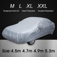 UNIVERSAL Anti UV RAIN Styling Sunshade Heat Protection Dustproof OUTDOOR FULL CAR COVER