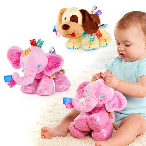 Nouveau Taggies Éléphant Hochet chien Doux En Peluche En Peluche Animal Lit lit Suspendu Main Bébé Jouets Fille Garçon de noël Cadeau d'anniversaire poupées