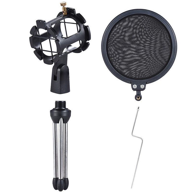GEVO Tripod For Microphone pop Filter The Mic Holder Accessories Shock Mount Protection Of The Tesktop Microphones Stand 5