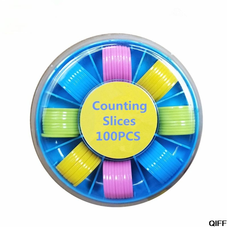 100Pcs Counters Counting Chips Plastic Markers 25 Mm Mixed Colors For Bingo Chips Game Tokens With Storage Box