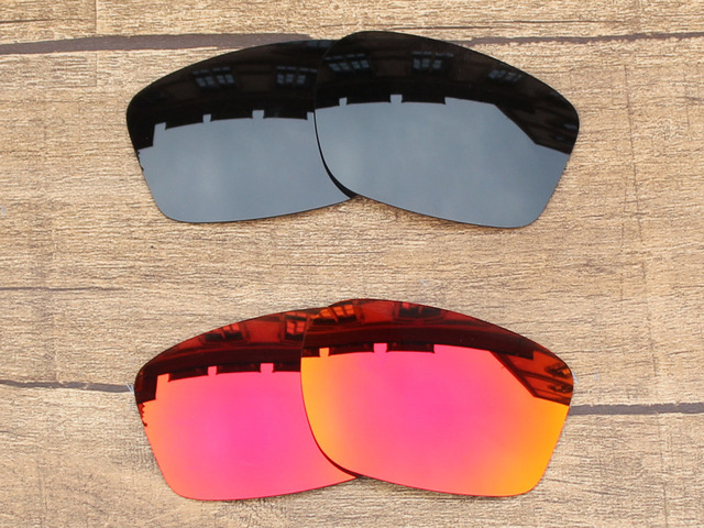 4954dc984bf6 Black   Fire Red 2 Pairs Polarized Replacement Lenses For Chainlink  Sunglasses Frame 100% UVA   UVB Protection