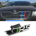 Car 3D Metal VRS Sticker Front Grille Emblem Badge For Skoda Octavia A7 2 A5 Tour Fabia Rapid Yeti Superb 2 Felicia Roomster RS