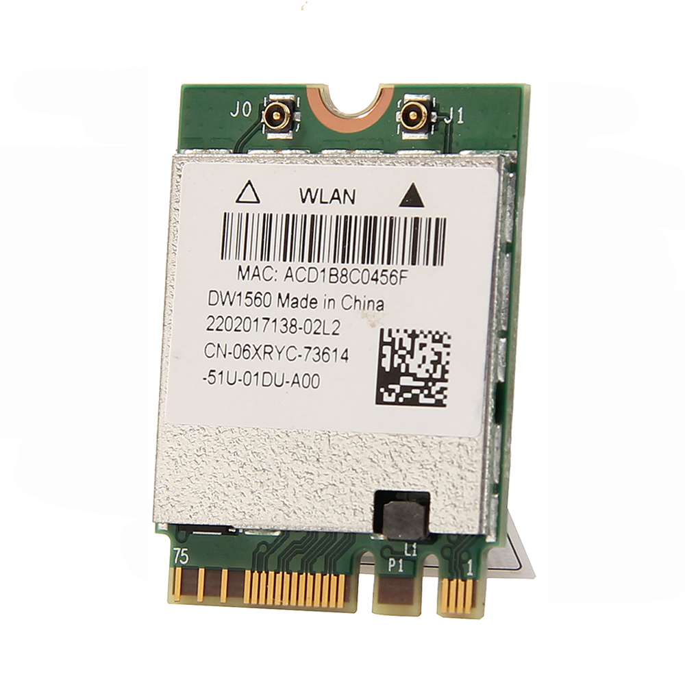 Inalámbrico AC1200 Broadcom BCM94352Z DW1560 867Mbps BT 4,0 802.11ac NGFF M.2 WiFi tarjeta WLAN para ventana portátil Mac Hackintosh OS - 5