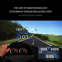 Universal 5 5 Inch GPS HUD Head Up Display Dashboard Mounted Projector For Speed Data Time