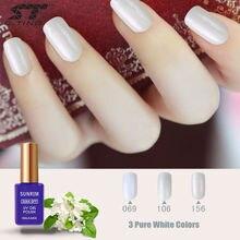 Sunrim blanco esmalte de uñas de gel para Nail tips French 15 ml nude uv gel barniz de larga duración empapa de led / uv laca gel