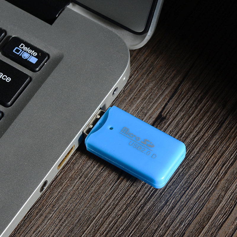Mini USB 2.0 Card Reader For Micro SD Card TF Card Adapter Random-Color Plug And Play Computer Memory Card Reader
