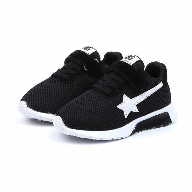 2019 Yeni çocuk Çocuklar Erkek Kız Yıldız Örgü Nefes Spor koşu ayakkabıları Ayakkabı calzado infantil детская обувь # PY25