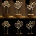 Acrílico Led Night Light Table Home lâmpada de mesa de iluminação decorativa Led 3D ilusão Visual luzes de fantasia atmosfera romântica lâmpadas