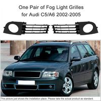 For Audi A6 C5 2002 2003 2004 2005 Front Low Bumper Fog Lamp Light Grilles 4B0807681AA01C 4B0807682AA01C
