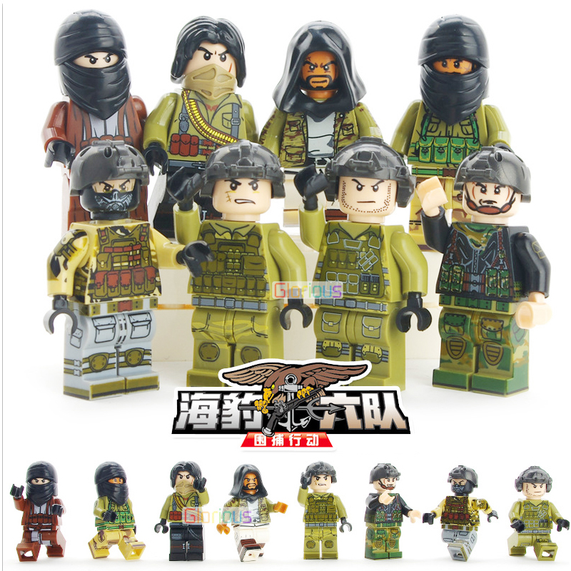 Hot Sales DIY Mini Figure Compatible LegoINGS Military SWAT Police City Building Block City Friend Police Toy For children Gift