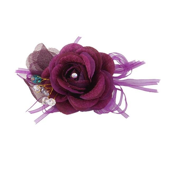 Чиан Yu Богемские броши Высокое качество шпильки с пряжей для платье проработавших цветок аксессуары для волос летние цветные Для женщин Заколки для волос