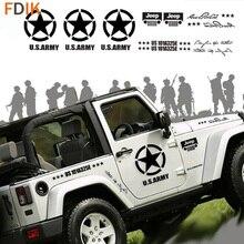 Brothers De US army Star Hood Body Deur Sticker Decal Vinyl Voor Jeep Wrangler Patriot Compass Grand Cherokeesticker vinylvinyl hood decalstickers hood