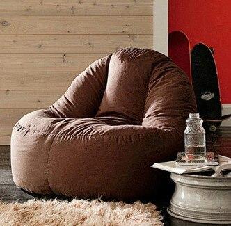 Alta suporte para as costas LAPTOP sofá Beanbag cadeira, Tv assistindo almofada do saco de feijão, Preguiçoso sala de estar pufes, Feijão forte espreguiçadeira