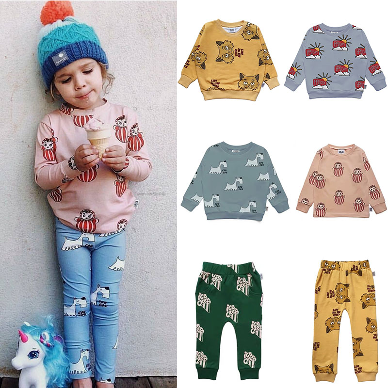 Enkelibb Baby Tops Sweatshirt Long-Sleeve Toddler Girls Autumn Boys Kids Children Fox-Print