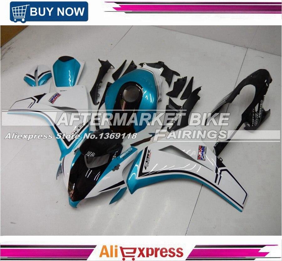 Индивидуальные Ligght синий и белый CBR1000RR Fireblade 2008 2009 2010 2011 впрыска ABS Пластик формы для HONDA CBR1000 RR Новый