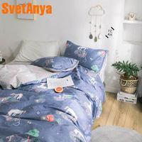 Svetanya Unicorn Cotton Bed Linens Kids Adults Bedding Set