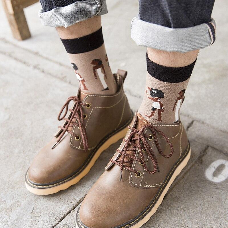 5 Pairs/lot Fashion Brand Socks Men/male Happy Cotton Socks Novelty Harajuku Socks Meia Mens Socks Series meias masculinas