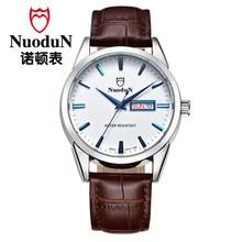 Nuodun Ultra thin Women Quartz Watches Ladies Fashion Women Wristwatch Casual Business Genuine Leather Quartz Watch