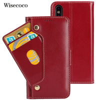 Luxury Genuine Leather Phone Case For Iphone X 10 Iphonex CaseFlip Wallet Cradit Card Holder Stand book Cover For iPhoneX Coque