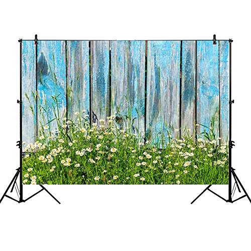 daisy flowers blue faux rustic wood fence spring Backgrounds Vinyl cloth High quality Computer print wall photo backdrop vintage castle retro medieval architecture stone bridge mountain backdrop vinyl cloth computer print wall backgrounds