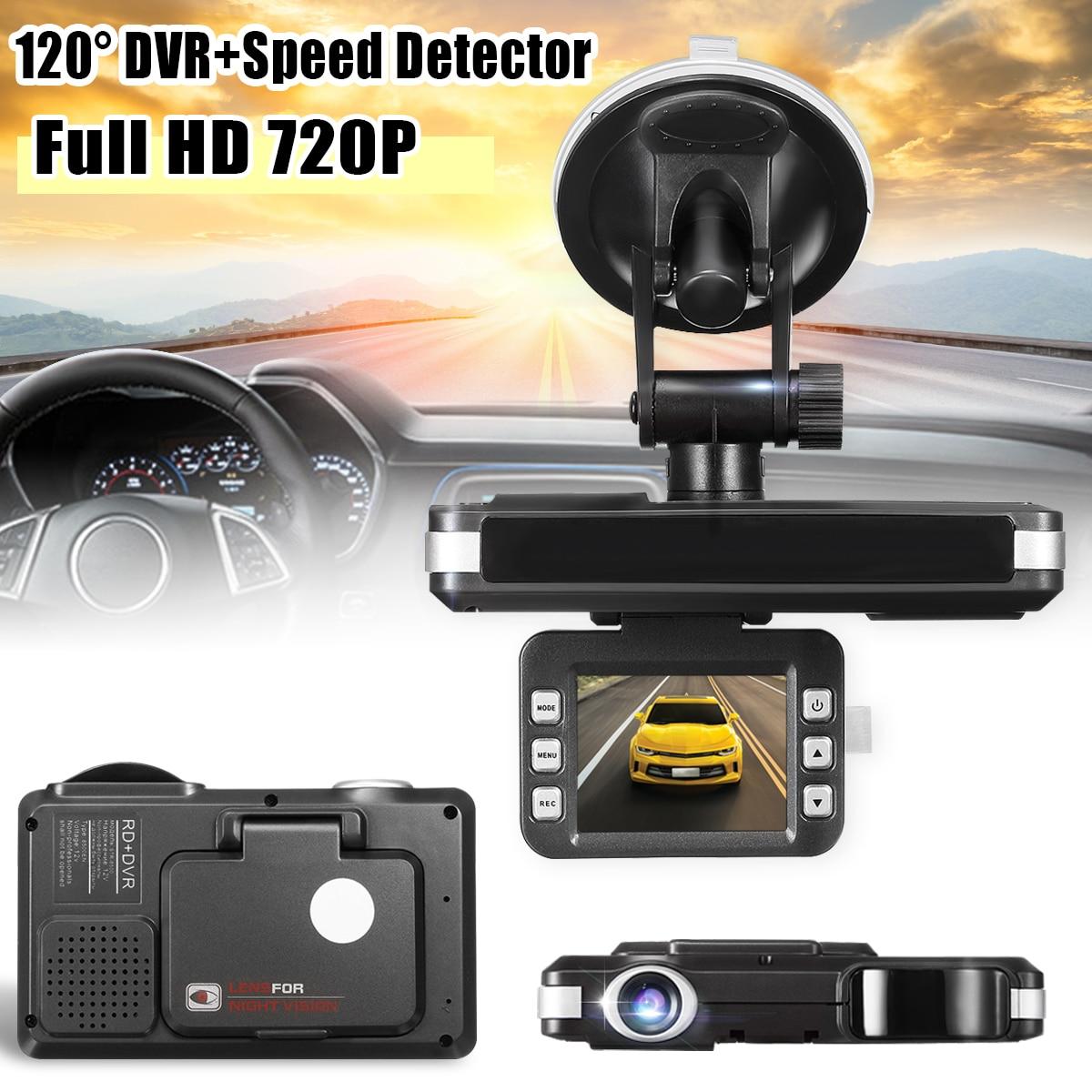 Kroak Car-Dvr-Camera Laser-Speed-Detector Recorders-Radar English 720P Russian HD 1 2-In-1