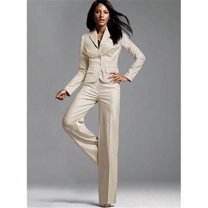 New Formal Women Business Suits Pants Notch Lapel Elegant Female Office Uniform 2 Piece Interview Suit B145