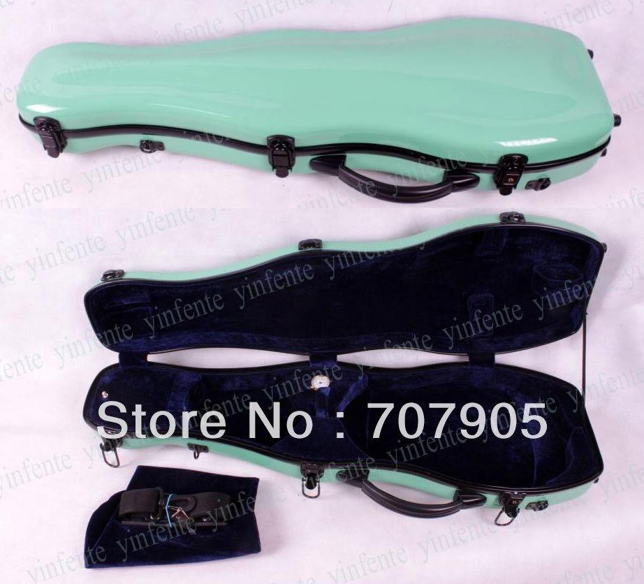 Здесь можно купить   Violin 4/4 Glass fiber case Waterproof Light Durable Dropshipping Wholesale Sky blue 1 pcs Спорт и развлечения
